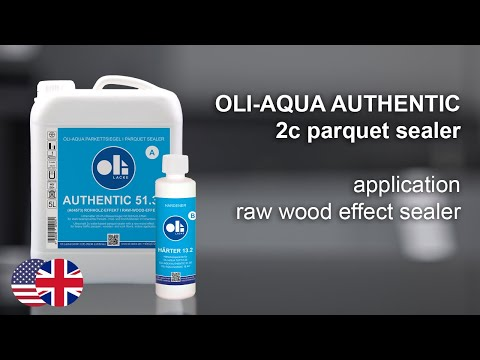 Application raw-wood-effect sealer on parquet flooring