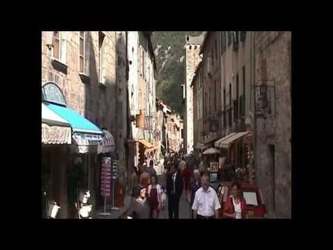 Impression of Villefrance de Conflent, France Pyrenees.