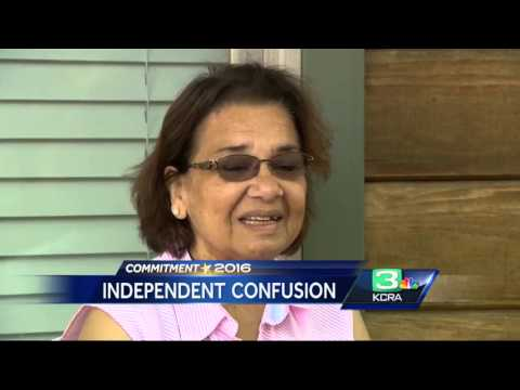 Independent CA registration voters confusion