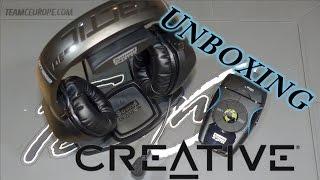 Unboxing Creative Recon3D Omega Wireless SBX-Headset   FULL HD   Deutsch
