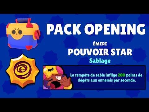 BRAWL STARS - PACK OPENING POUR MAXER EMERY ET DÉBLOQUER LE POUVOIR STAR !!