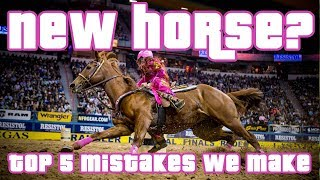 Top 5 Mistakes We Make When Getting A New Barrel Horse BARREL RACING TIPS
