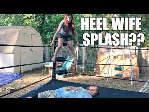 GRIM TEACHES HEEL WIFE AND LITTLE GRIMMETTES HOW TO WRESTLE