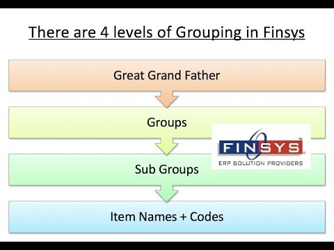 005 PPT How to do the Grouping of Items in Finsys ERP MOV