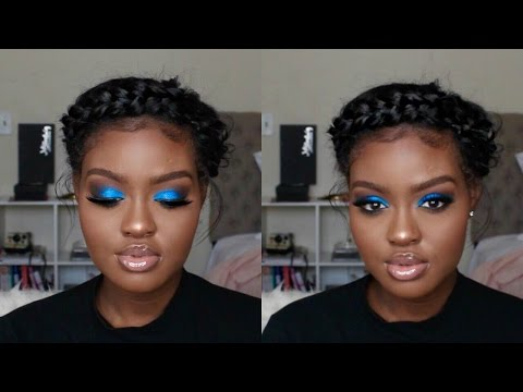 Blue Smokey Eye Holiday Makeup Tutorial | Shanny Stephens