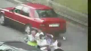 драка с ГАИшниками в Астане, Казахстан