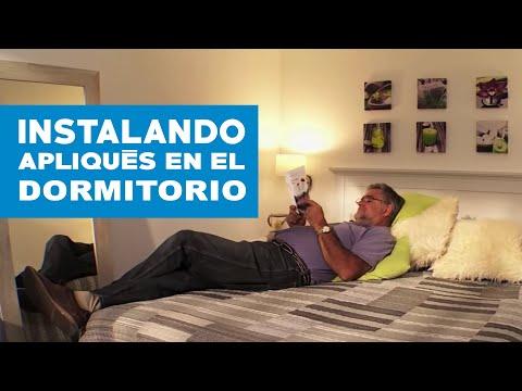 ¿Cómo instalar apliques en un dormitorio?