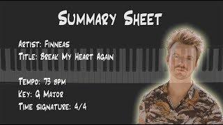 Break My Heart Again (Finneas) Piano Keyboard Tutorial
