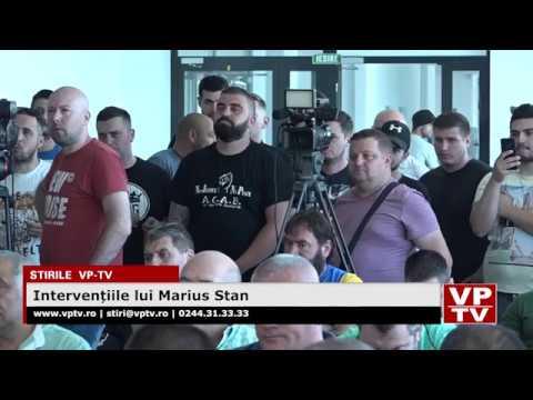 Intervențiile lui Marius Stan