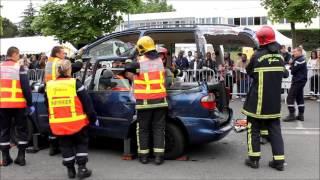 preview picture of video 'Journée sécurité routière : une démonstration des pompiers mantes-la-jolie'