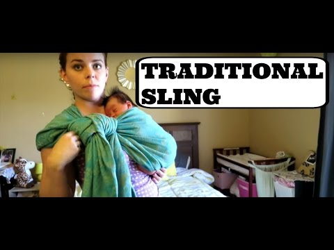 a9e8103e176 HOW TO USE A SHORT WOVEN WRAP WITH A NEWBORN (Traditional Sling Carry)