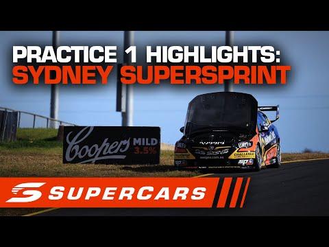 SUPERCARS シドニースーパースプリント プラクティス1ハイライト動画