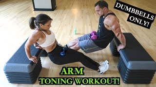 Toned Arms Workout with Dumbbells | Biceps and Triceps! by Anabolic Aliens