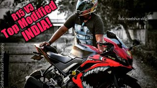 Download New Yamaha R15 v3 modified With CUSTOM WINGLET and VISOR