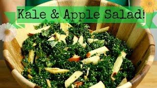 Healthy Salad Idea | Kale, Apple & Almond Salad