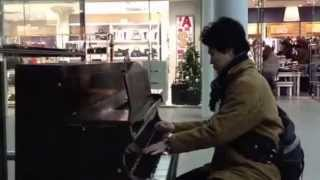 preview picture of video 'Venezianishes Gondellied II Op.30-6 at st pancras station public piano without several keys'