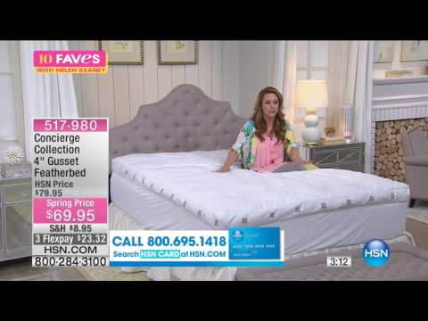 """Concierge Collection 4"""" Gusset Featherbed with Skirt"""