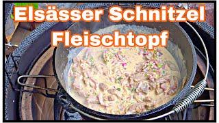 Elsässer Schnitzel Fleischtopf aus dem Dutch Oven
