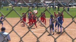 Hailee Schrader breaks NFA softball career hits record