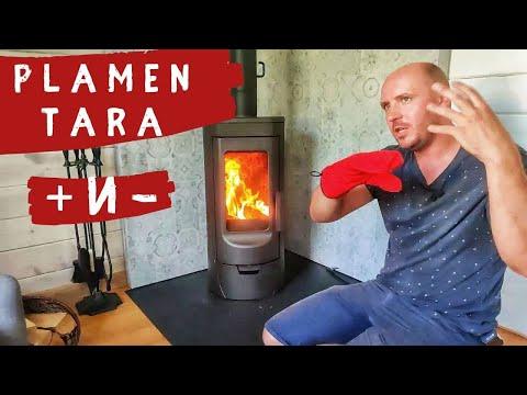 Печь для дачи Plamen Tara. Плюсы и минусы. Считаем дымоход для печи-камина