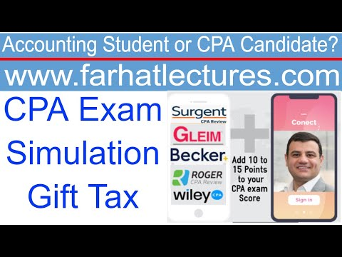 CPA exam Simulation | Gift Tax - YouTube