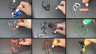 Scary Pancake Art - Siren Head, Trevor Henderson Creatures, Granny, Cartoon Cat, Piggy, Ice Screem