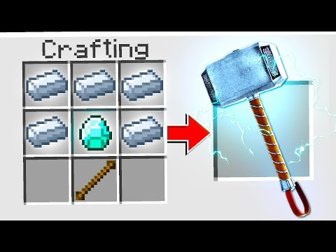CRAFTING THOR'S HAMMER IN MINECRAFT!