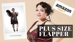 OMG! Plus Size Flapper Dress From Amazon Review | Fan, Headband & Shoes, Too! (Great Gatsby 1920s)