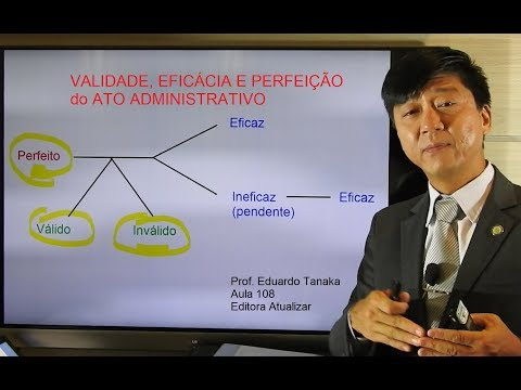 Atos Administrativos - Validade, Eficácia e Perfeição - Direito Administrativo - aula 108