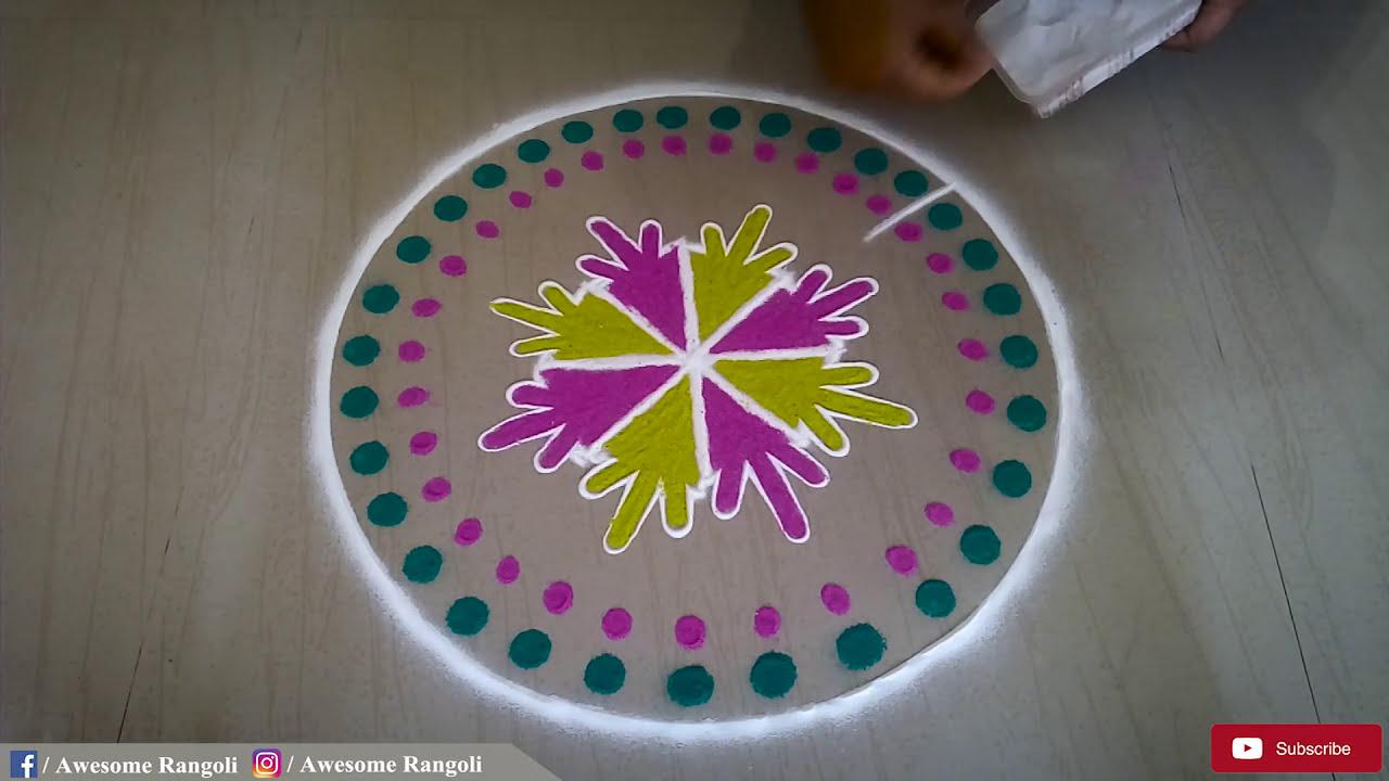 easy rangoli design by pakka local