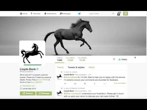 Twitter examples banking