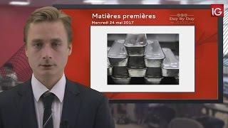 Bourse - Cours de l'argent, la reprise se poursuit - IG 24.05.2017