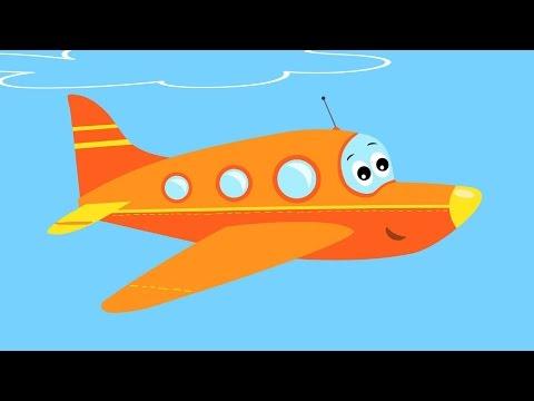 САМОЛЕТ - Развивающая веселая песенка мультик для детей малышей про вертолет ракету