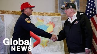 President Trump briefed on California wildfires, says