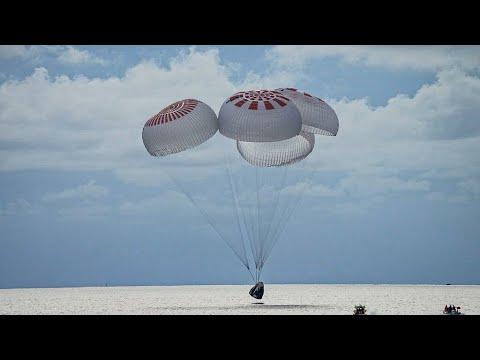 Succès pour SpaceX avec le retour sur Terre de ses premiers touristes de l'espace • FRANCE 24