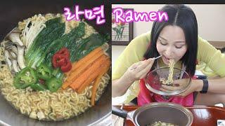 Mukbang Recipe | Korean Vegetable Ramen