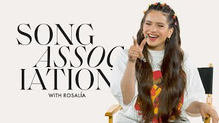 "ROSALÍA Sings Shakira, Ozuna, and ""Malamente"" in a Game of Song Association 