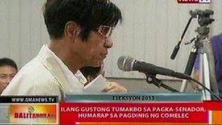 BT: Ilang gustong tumakbo sa pagka-senador, humarap sa pagdinig ng COMELEC