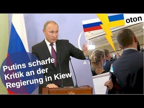 Putins scharfe Kritik an der Kiewer Regierung auf deutsch [Video]