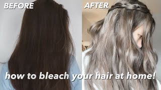 Bleaching Hair At Home Tutorial | Dark Ash Blonde / Light Brown Hair Color (part 1)