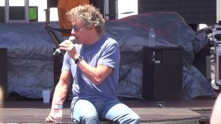 Roger Daltrey talks about rock opera, making new music, training voice, Elvis