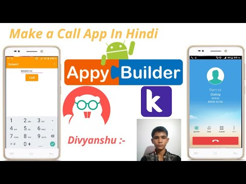 Make a call app in Appybuilder, Thumkable, Kodular in Hindi || Divyanshu ||