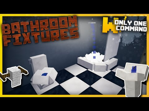 Bathroom fixtures with only one command block Minecraft Project