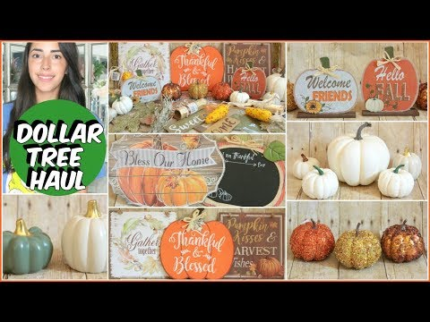 DOLLAR TREE HAUL FALL DECOR 2018