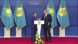 Церемония вручения государственных наград. Выступление Ж.Ушкемпирова