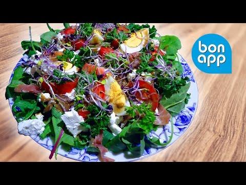 Салат (руккола, жамбон крю, томат, яйцо) - Оригинальные рецепты