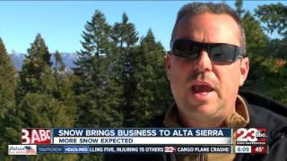 Snow brings business to Alta Sierra