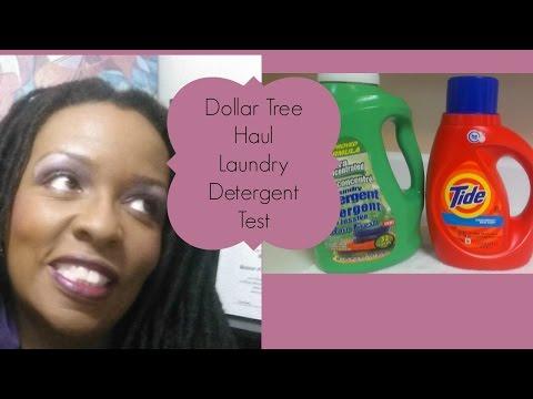 Dollar Tree Haul Dollar Tree Laundry Detergent Versus Tide Test