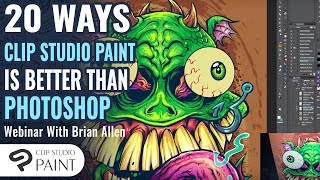 20 Clip Studio Paint (Manga Studio 5) Best Features that make it better than Adobe Photoshop