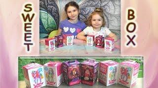 Распаковка сюрприз игрушки  SWEET BOX  Пони на ладони 2 (цветочные) и  Монстр Хай (Monster High).